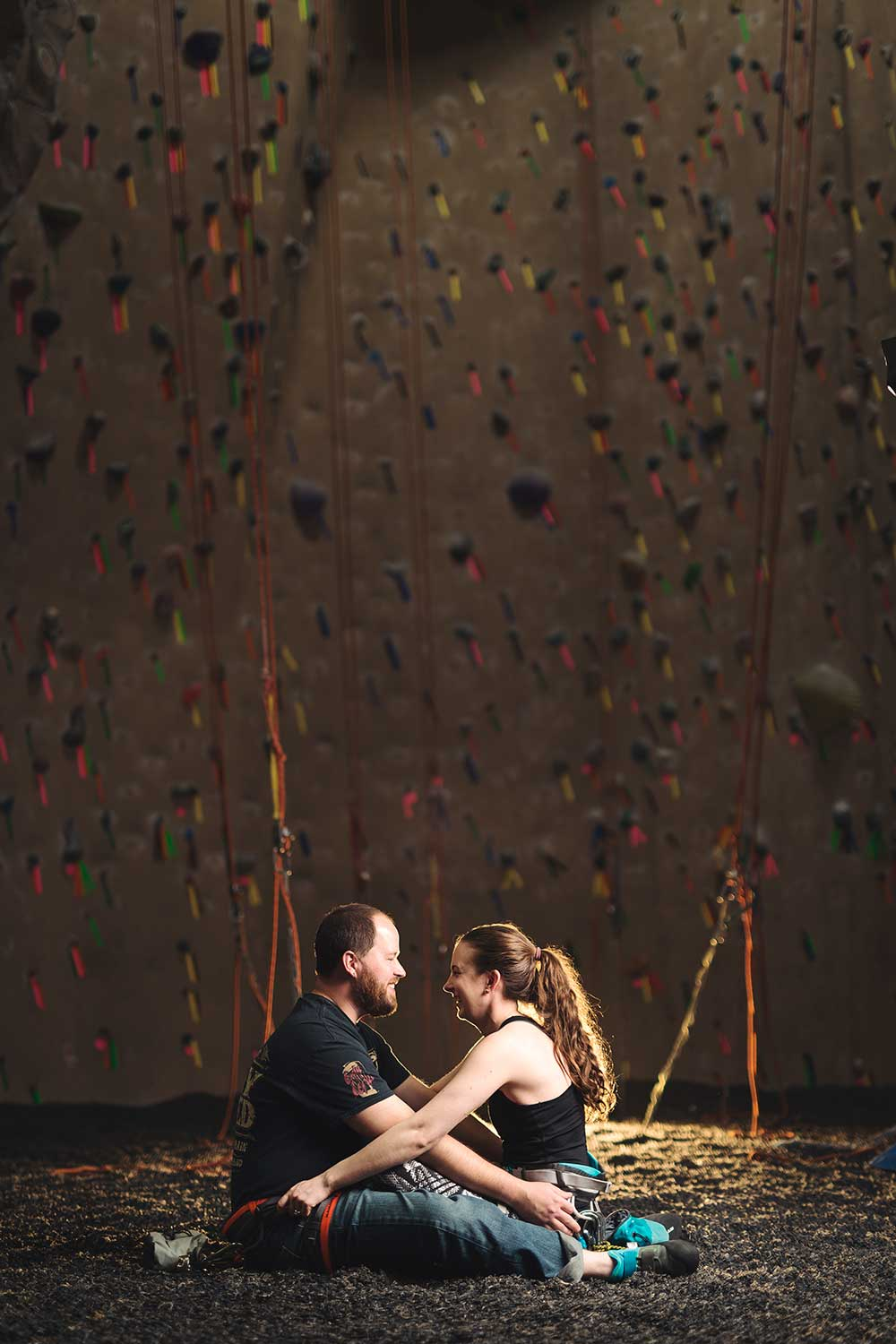 Rock climber engagement - Reading PA