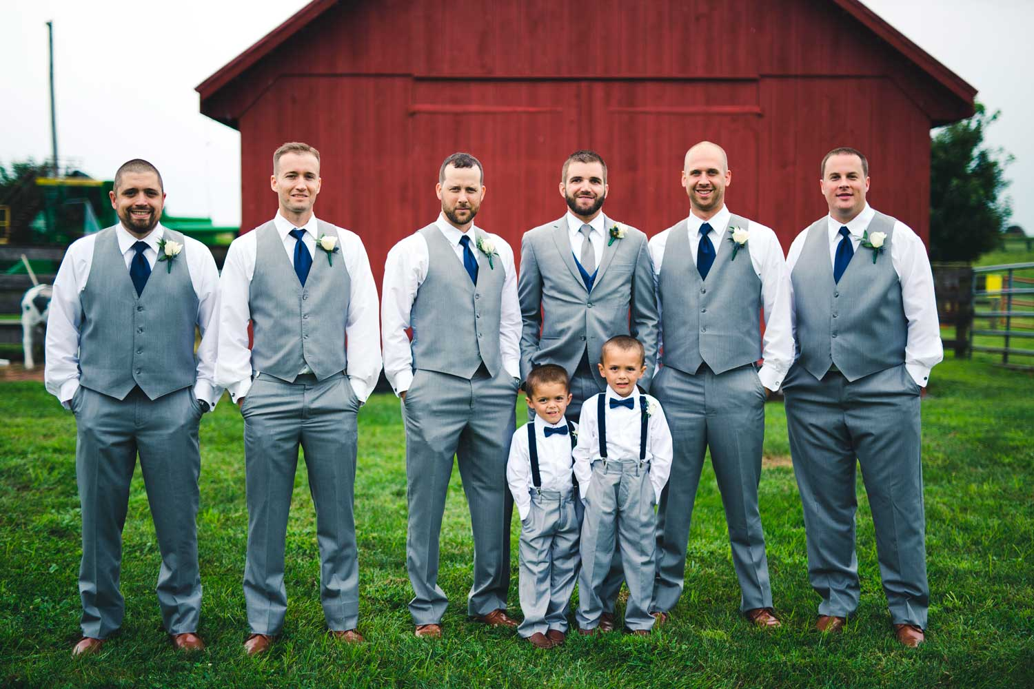 Groomsmen and ring bearers