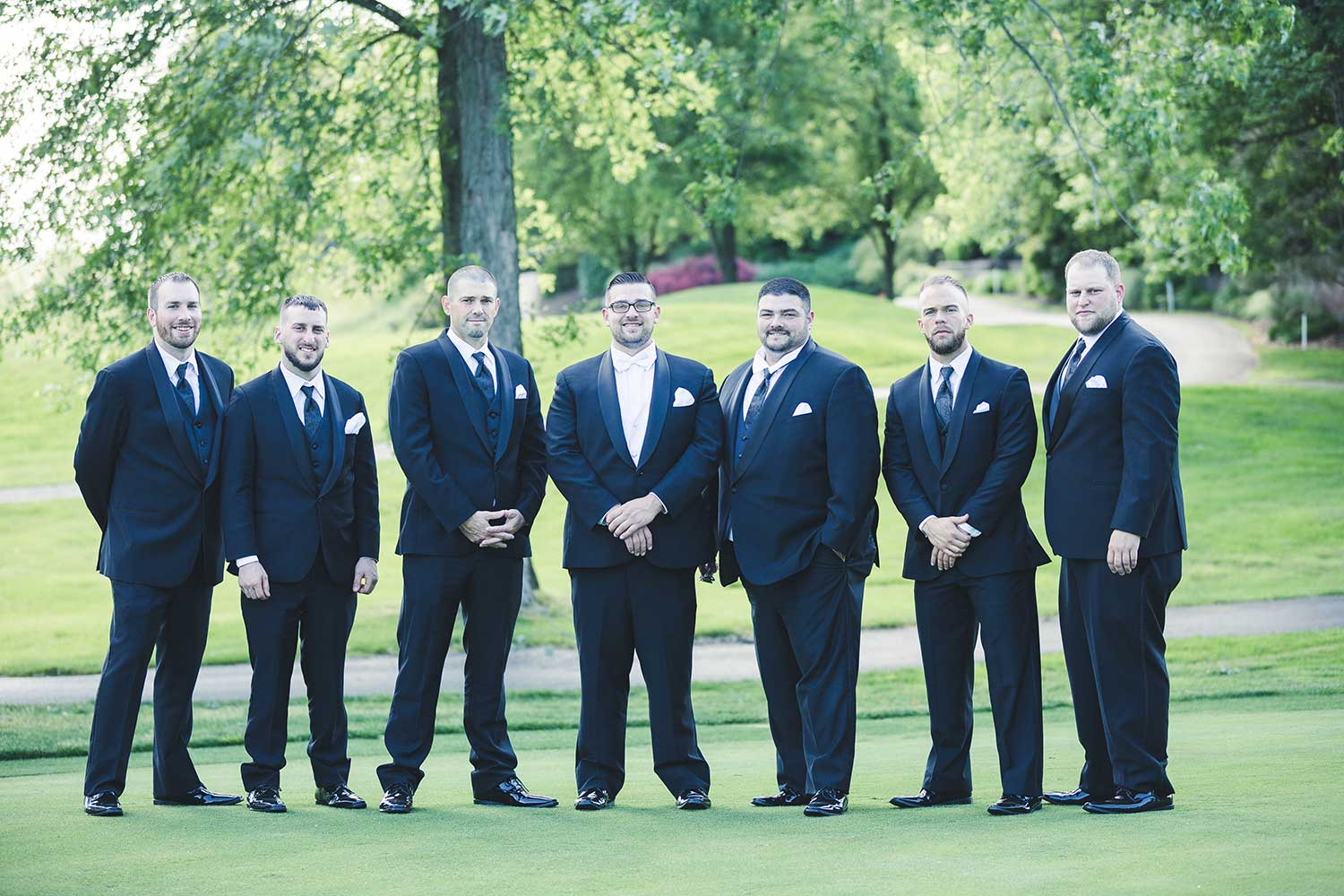 Group photo of grooms party