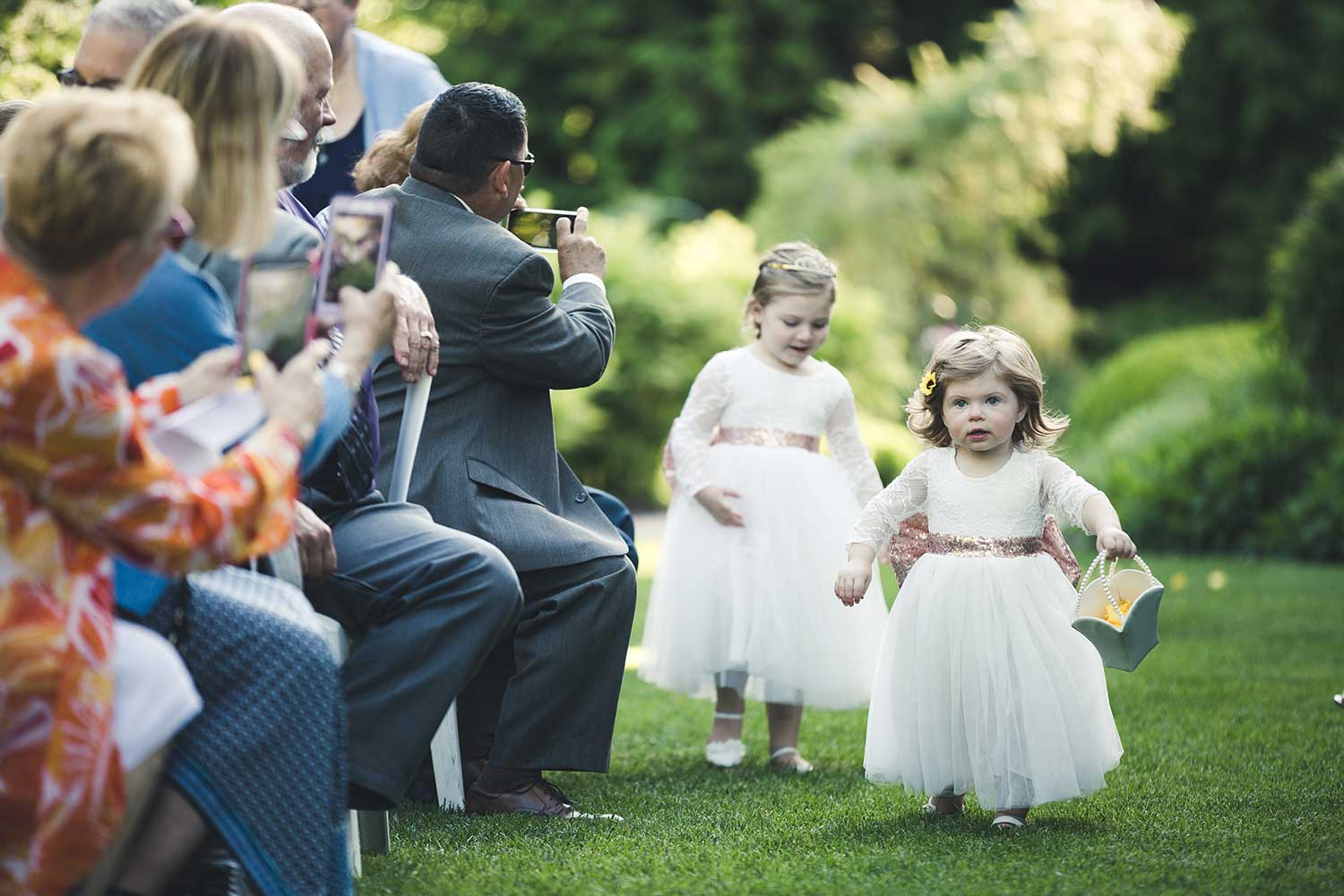 Flower girls at Manor House at Commonwealth