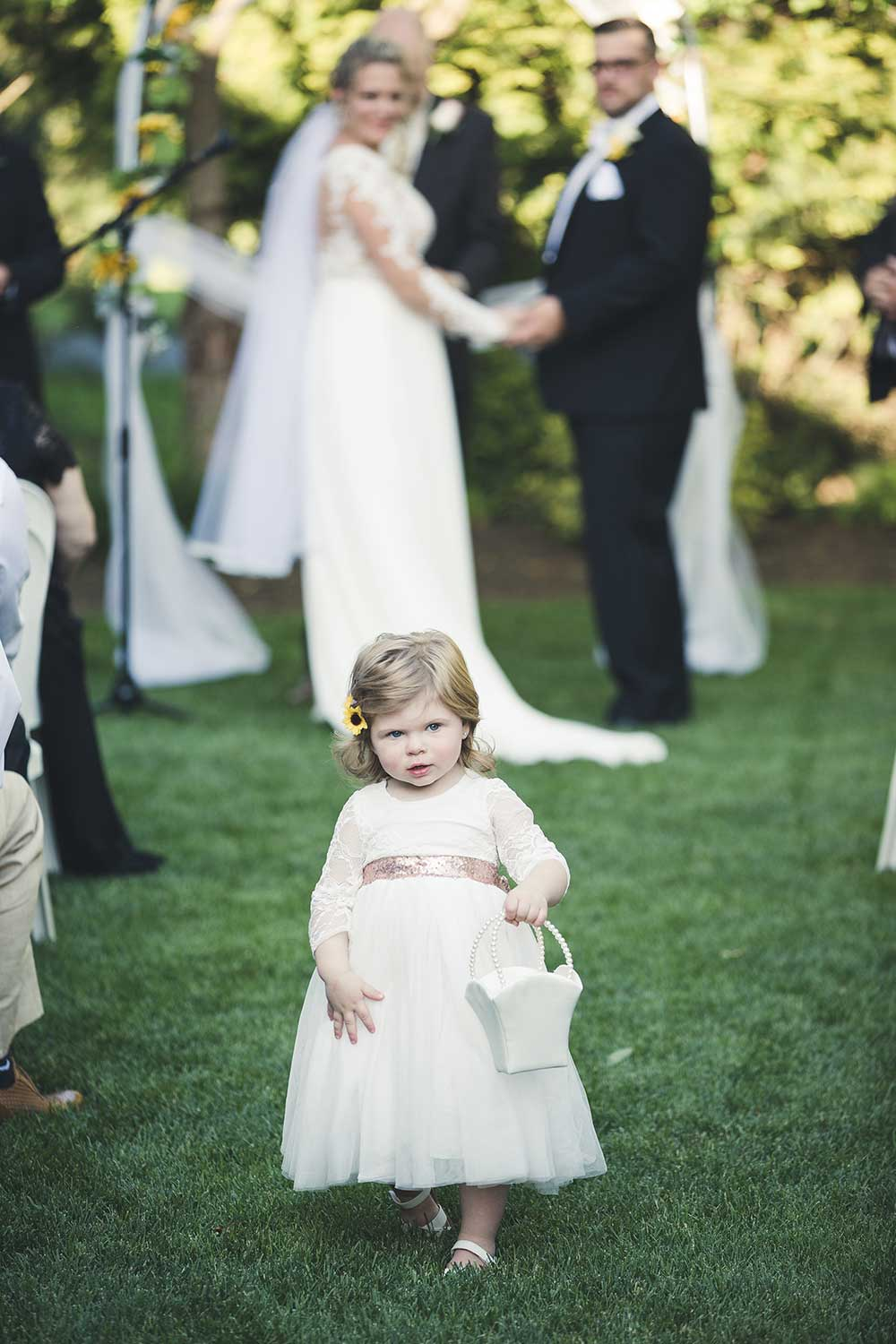 Flower girl at Manor House at Commonwealth