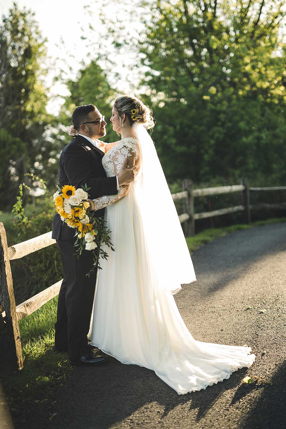 Bride and Groom portrait at Manor House at Commonwealth