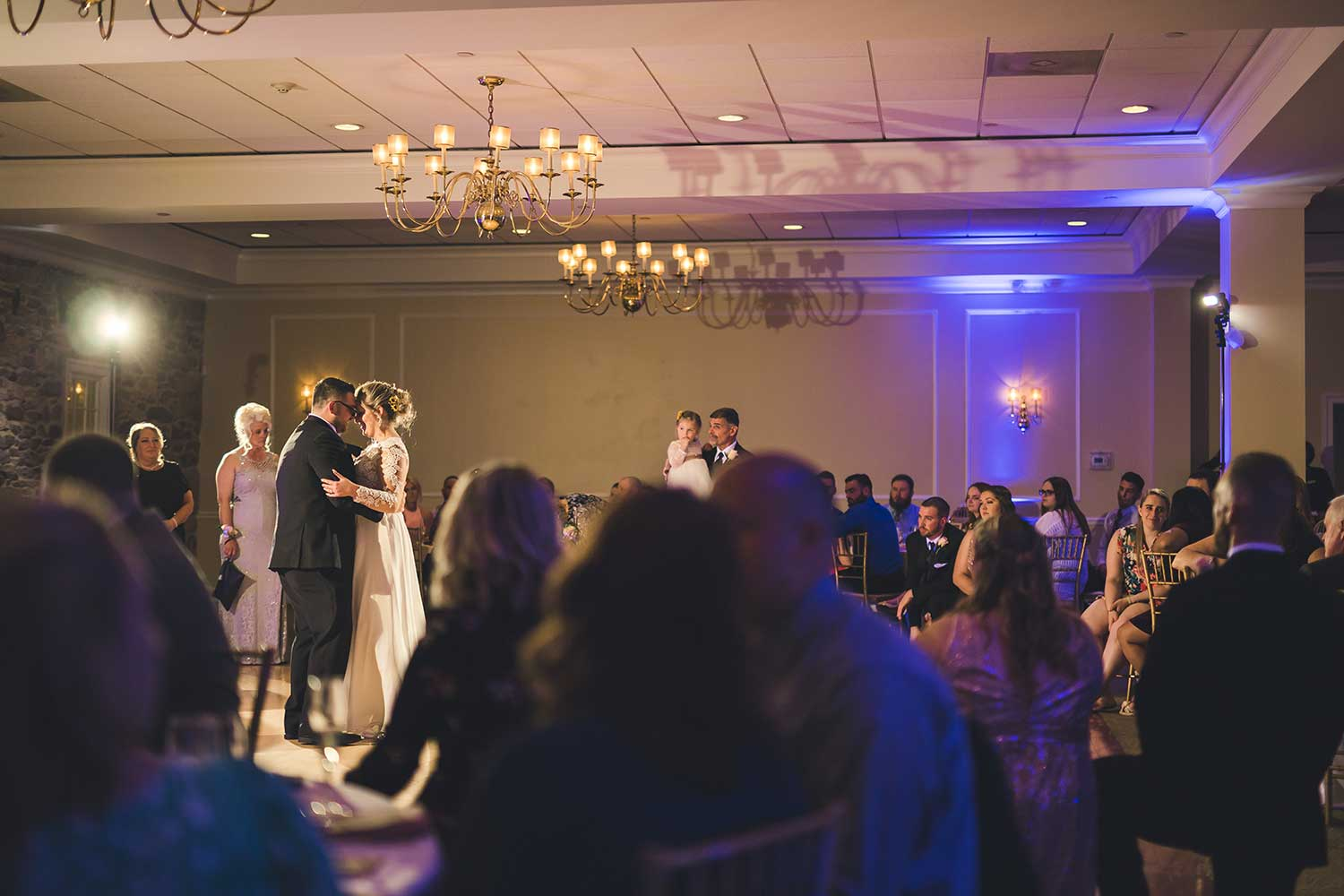 First dance at the reception at Manor House at Commonwealth