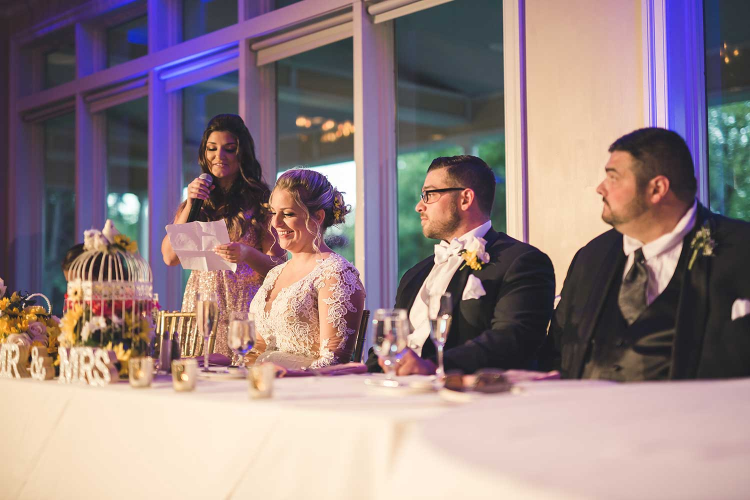 Maid of honor speech at Manor House at Commonwealth