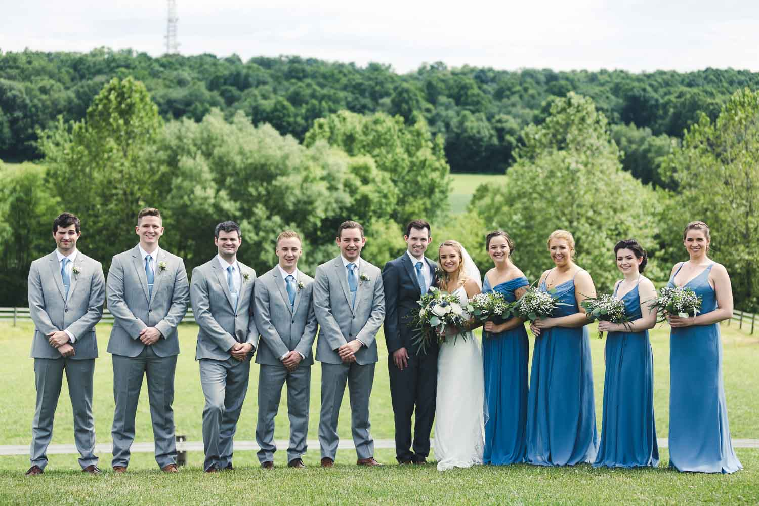 Groomsmen and Bridal party group photo