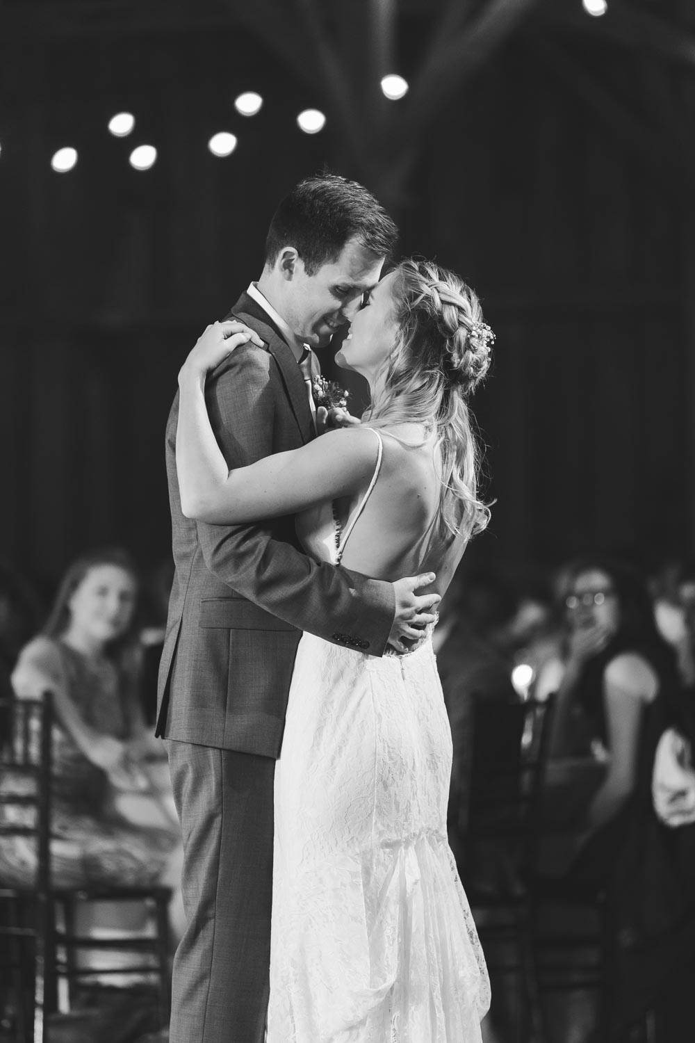 First dance as a married couple at the Barn at Stoneybrooke