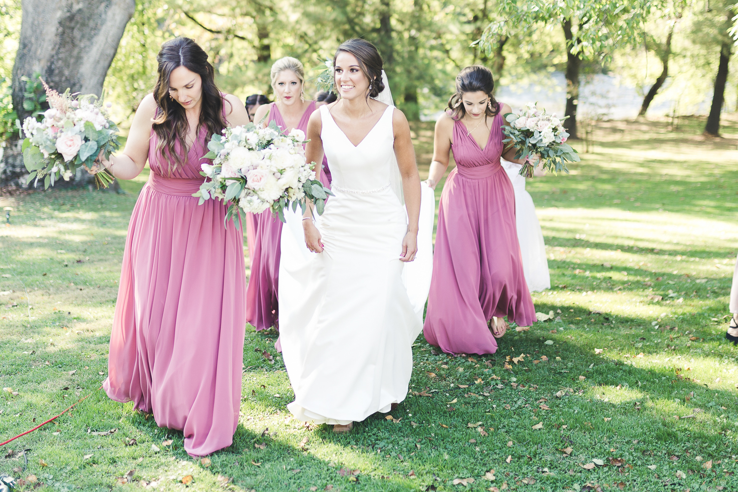Bride and bridal party before the wedding