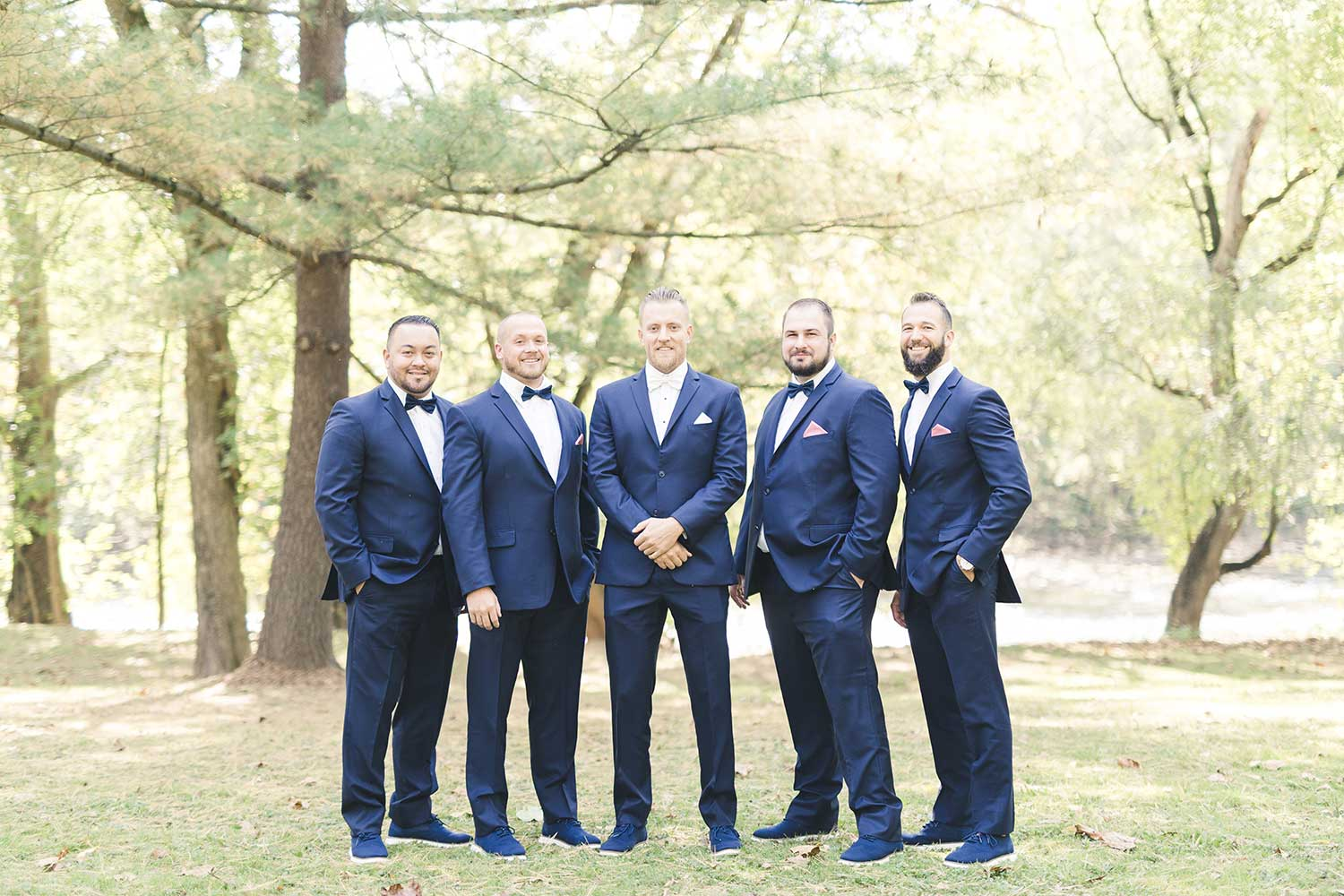 Groom and groomsmen group photo