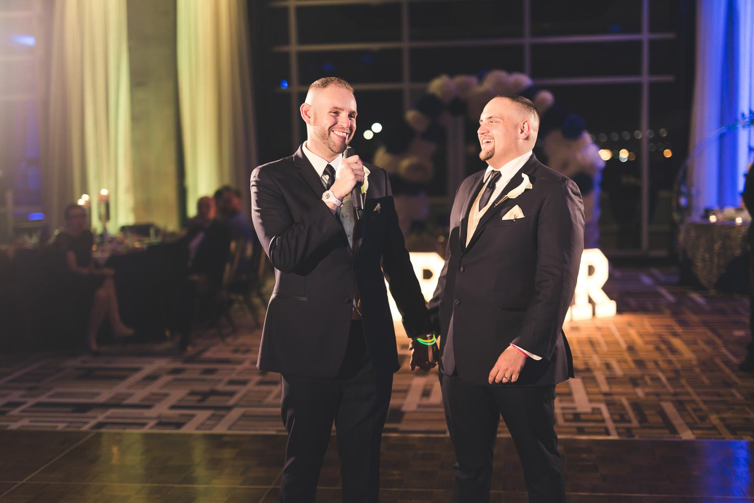 Grooms giving a toast - Sugarhouse Casino