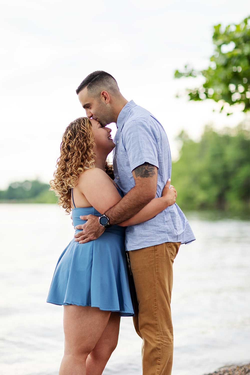 Couple at their engagement session in Bristol, PA