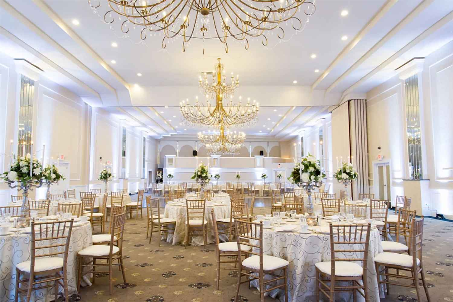 Regal Ballroom main banquet hall, located in Philadelphia PA