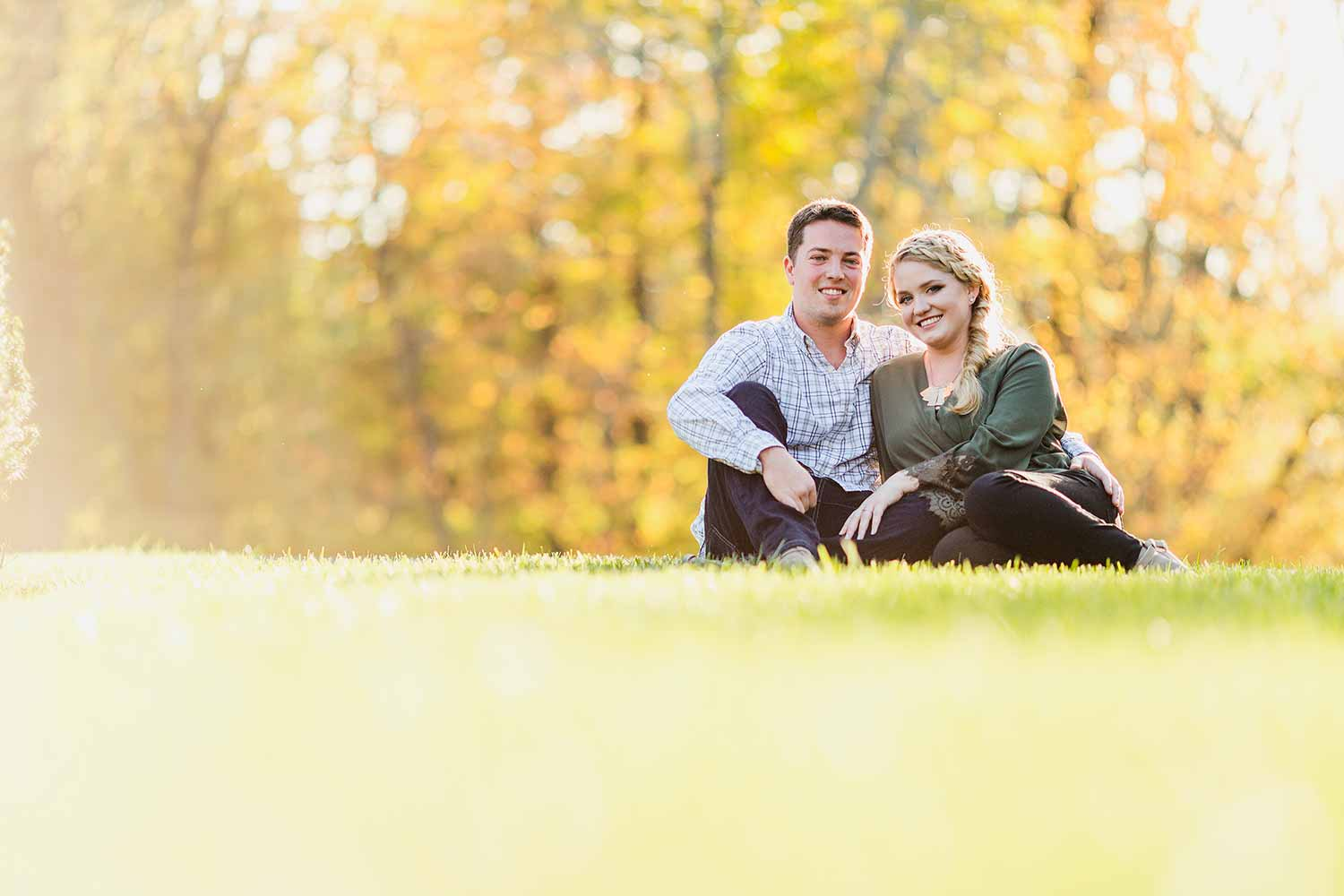 Engagement photos at Bucks County Community College